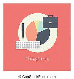 平ら, 概念, 管理, イラスト