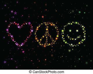 平和, 愛, 幸福