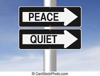 平和, 静寂