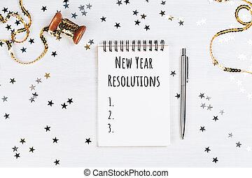年, resolutions, 新しい, リスト