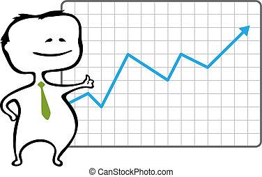 幸せ, 大きさ, -, トレーダ, 矢, 上昇, スタイル, ベクトル, 漫画, 損失, ありなさい, 缶, (どれ・何・誰)も, なしで, チャート, 青, quality., 登られた, イラスト, 文書