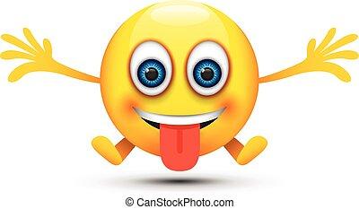 幸せ, 舌, emoji