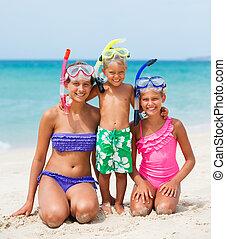 幸せ, 3, beach..., 子供