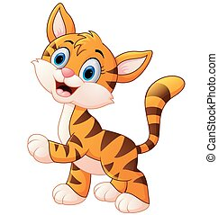 幼獣, 内気, かわいい, tiger, 微笑