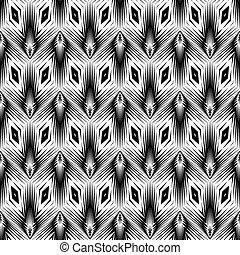幾何学的な パターン, モノクローム, デザイン, seamless