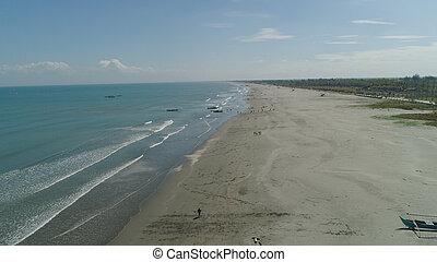 広く, 浜, luzon, フィリピン。, 島