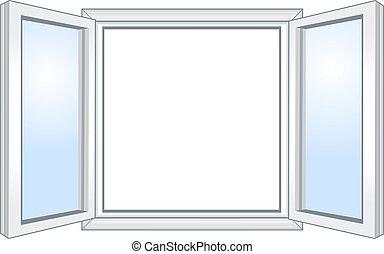 広く, 窓, 開いた