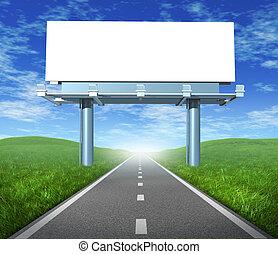 広告板, ブランク, 道