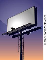 広告板, 日没