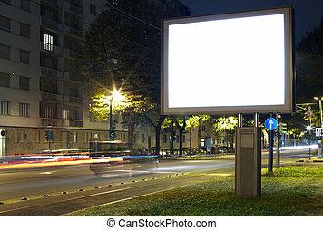 広告板, 都市 通り