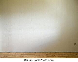 床, 壁, 木製である, 日光, 白, 側