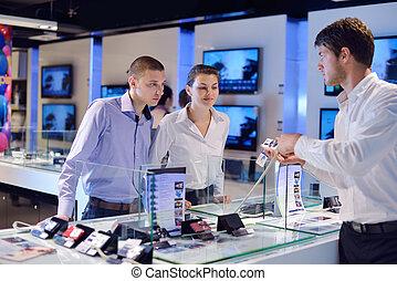 店, 人々, 家電, 買い物