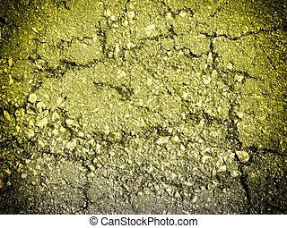庭, 手ざわり, 黄色, 石