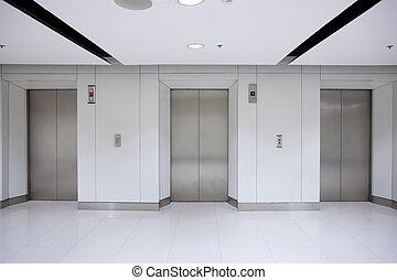 建物, エレベーター, 廊下, ドア, オフィス, 3