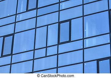 建物, ガラス, 窓