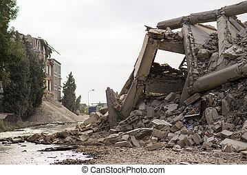 建物, 倒れられる, 産業