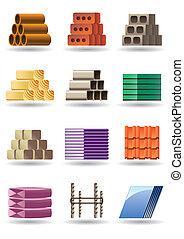 建物, &, 建築物, 材料