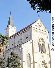 建物, 教会, 2011, jaffa, franciscan