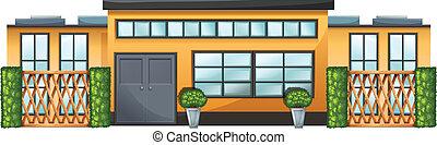 建物, 植物, 緑
