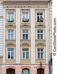 建物, 窓, ファサド