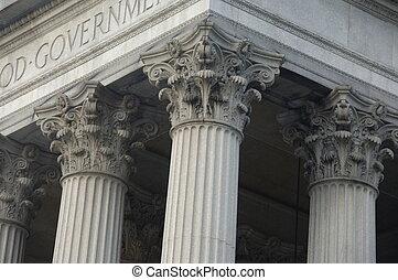 建物, corinthian のコラム, 政府