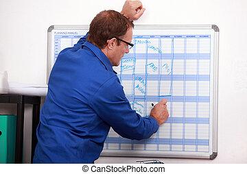 建築作業員, カレンダーにかけなさい, 期限, 執筆