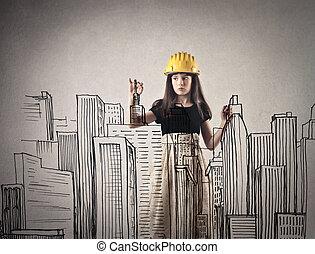 建築者, 女
