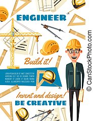 建築者, 建設, 専門職, サイト, エンジニア