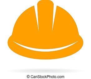 建設帽子, 懸命に, 黄色, アイコン
