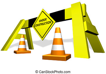 建設, 交通, ブロック, 下に