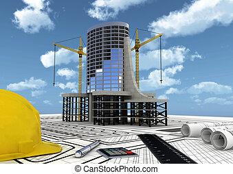 建設, 商業 建物
