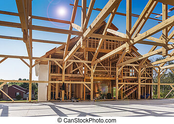 建設, 枠組み, 家, 新しい