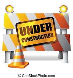 建設, barrier., 下に