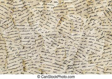 引き裂かれた, 手紙
