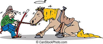引き, 馬, 始めなさい