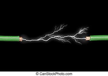 弧, 電気である, ワイヤー