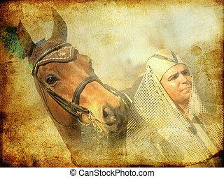 強くされた, 馬, ファラオ, 型