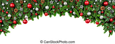 形づくられた, 広く, クリスマス, 弓, ボーダー