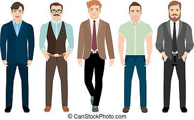 形式的, スタイル, 男性, ビジネス, ハンサム