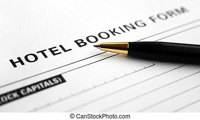 形態, 予約, ホテル