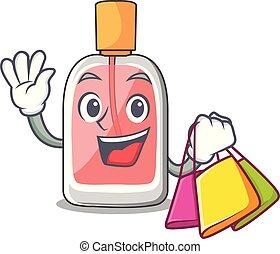形, 買い物, parfum, botlle, 漫画