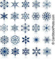 形, 2, セット, 雪片