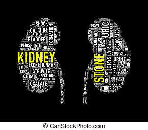 形, wordtag, 腎臓石, wordcloud