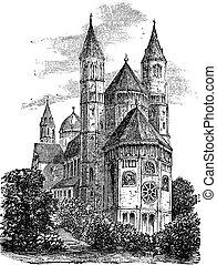 彫版, 型, みみず, st., ドイツ, 大聖堂, ピーター, ∥あるいは∥