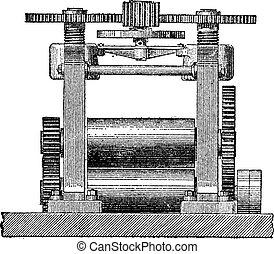 彫版, 機械, laminating, 型
