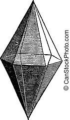 彫版, 水晶, ルビー, 型