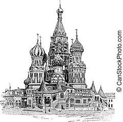 彫版, basil's, 聖者, 型, モスクワ, 大聖堂, ロシア