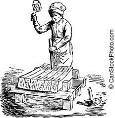 彫版, engraving., 比喩, 百科事典, fac, 型