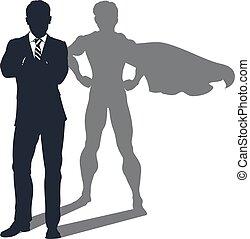 影, ビジネスマン, superhero
