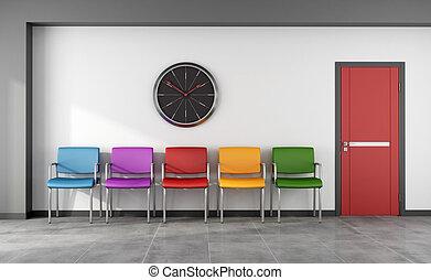 待っている 部屋, カラフルである